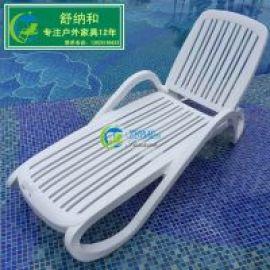 户外休闲沙滩躺椅广州水上乐园泳池边折叠沙滩躺椅