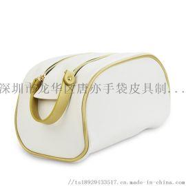 新款收纳 双拉链大容量便携旅行pu化妝包