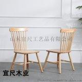 山東北歐實木餐桌椅休閒餐廳椅現代簡約傢俱餐桌椅