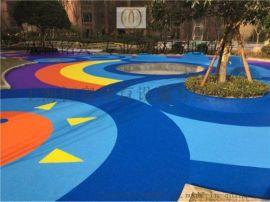 江山塑胶彩色场地材料玉环幼儿园跑道施工