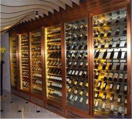 酒柜 厂家直接设计定做 酒店酒吧不锈钢酒柜酒架