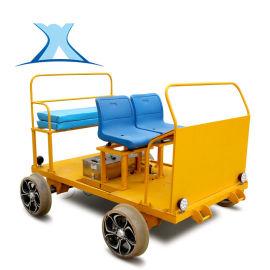 百特智慧BGJ軌檢車 鋰電池軌道載人電動鐵路平車