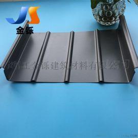 直立锁边屋面板 体育馆钢结构屋面用 0.7mm65-430型 铝镁锰合金屋面板