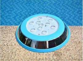 9Wled水底灯 七彩内控 游泳池灯水下壁挂射灯