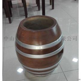 厂家直销玻璃钢休闲仿古凳子也可当收物桶