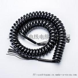 汽车尾板螺旋线0.75平弹簧线电源线电线电缆