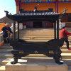 寺庙铸铁四龙柱香炉定做,长方形四龙柱香炉厂家