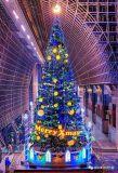 大型圣诞树设计制作定制厂家发光圣诞树松枝圣诞树