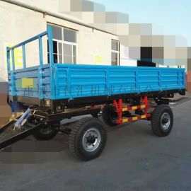 四轮自卸拖车 拉粮食的车斗 带油顶的车斗