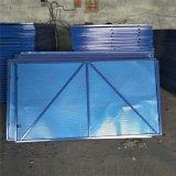 建築安全週邊爬架網金屬板衝孔網藍色噴塑爬架防護網