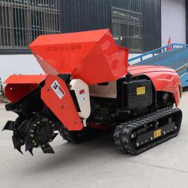 田园管理机 厂家定制履带式开沟机 多功能履带旋耕机