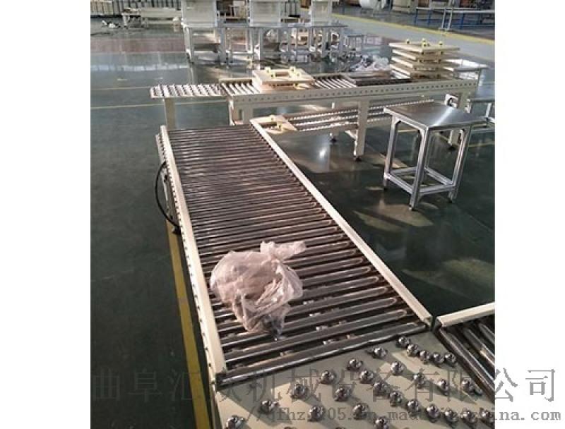 可伸缩滚筒输送机 铝型材输送线护栏 Ljxy 装车