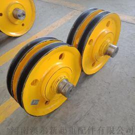 矿井提升滑轮组 U型槽起重吊车滑轮 吊装滑轮组