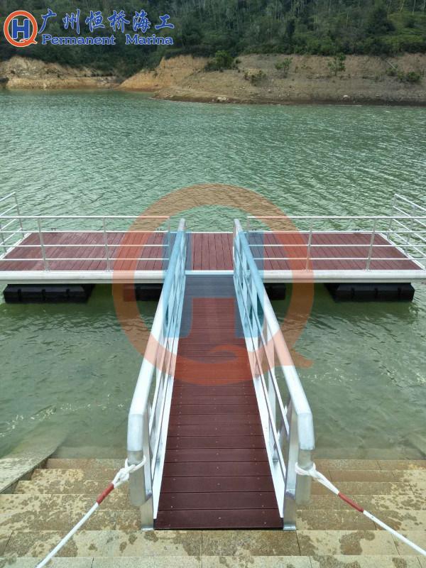 浮动码头锚固装置浮码头固定方式拉绳锚块装置