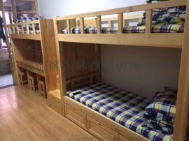 成都学校床实木上下床厂家公寓床结实耐用