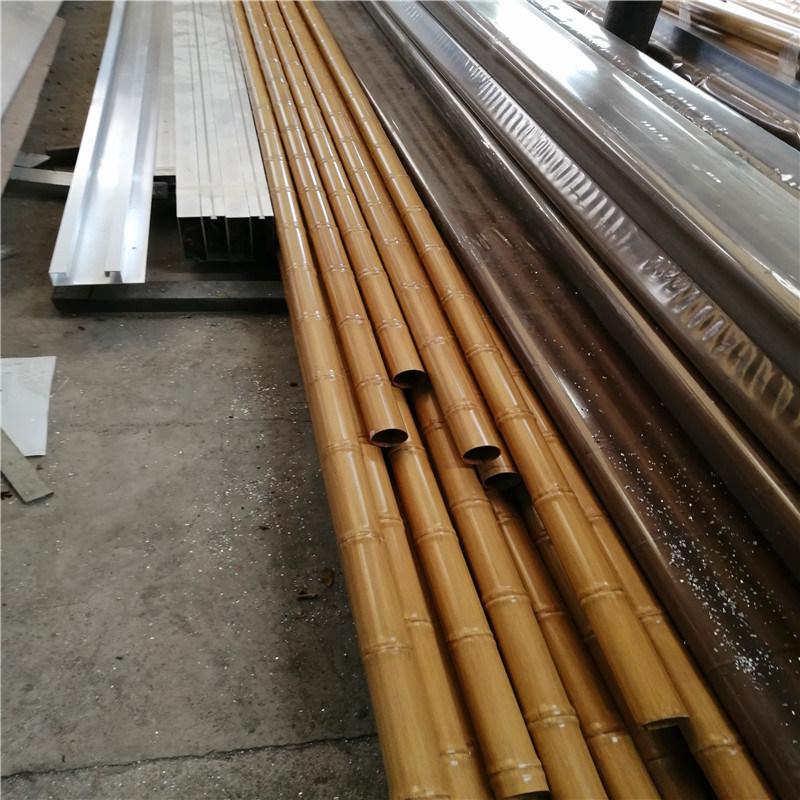 60x1.5厚仿竹紋鋁圓管 彎曲弧形雙節竹紋管