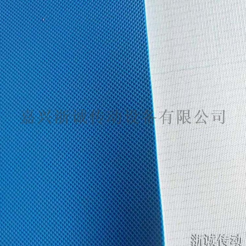 蓝色pvc食品输送带