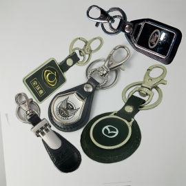創意金屬滴膠鑰匙扣情侶商務汽車飾品鋅合金工藝品烤漆鑰匙鏈定制