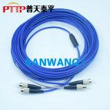 铠装光纤跳线 ST-ST铠甲光纤活动连接器