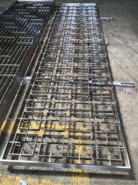 会所不锈钢屏风定制加工厂家 金色古铜不锈钢屏风