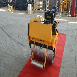 振动手扶单钢轮座驾式压路机厂家 新款小型路面压实机