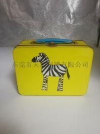 方形午餐铁盒 厂家定制 糖果手挽罐 礼品盒
