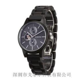 戈菲尔品牌新款跨境电商镂空全自动机械木手表定制