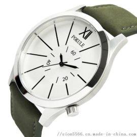 POKULE XJK1803A 不锈钢男装石英手表