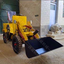 多功能小型电动铲车  四驱电动装载机