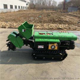 多功能履带式开沟施肥回填一体机,五联式田园管理机