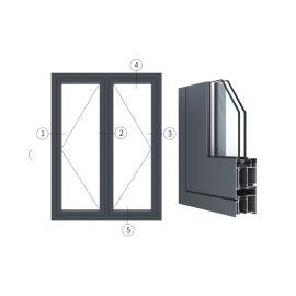 广东兴发铝材创高AL6524A|B系列外平开门