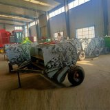 奉化市小麥秸稈撿拾壓捆機,圓草捆自拾打捆機