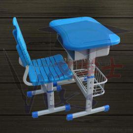 单人学生升降课桌椅 课桌椅厂家   课桌椅定制厂家
