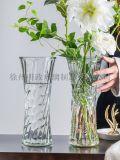 玻璃花瓶富貴竹瓶百合花瓶客廳插花瓶客廳擺件