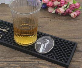 酒吧吧台隔水硅胶垫长方形滤水防滑杯垫