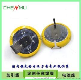 CR1225纽扣电池,3V扣式锂锰电池,焊脚、引线电池