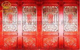 贵州仿古门窗厂家,中式寺庙雕花门窗定制厂