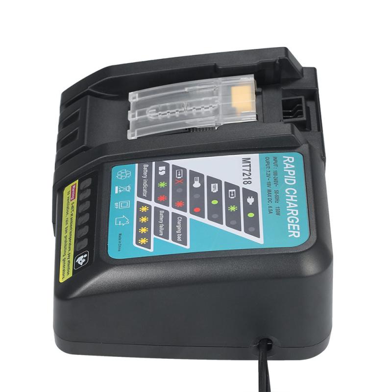 适用14.4~18V牧田工具电池充电器MT7218