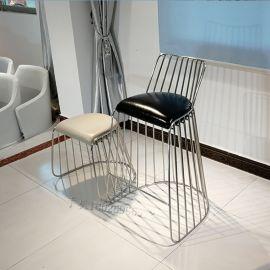 不锈钢高脚吧椅 餐椅 **吧 KTV 家用吧台椅子
