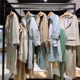 20春新款三彩性感连衣裙品牌折扣女装货源