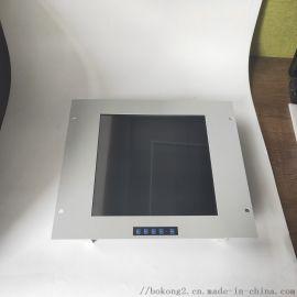 15寸带按键钢面板电容电阻触摸屏工业显示器
