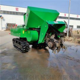 小型柴油旋耕机 履带开沟旋耕机遥控式