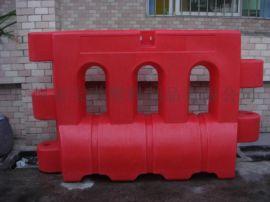 交通安全塑料水马滚塑三孔水马 水马围栏