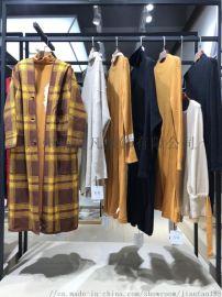中**牦牛绒针织外披 广州女装市场折扣店拿货渠道