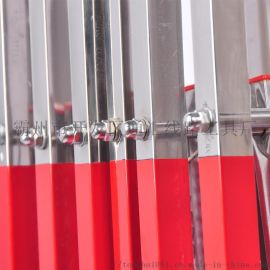 不锈钢拱式伸缩围栏可移动折叠护栏安全施工隔离防护栏