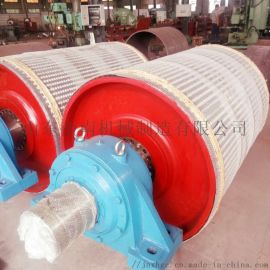 机制石子皮带机挂胶传动滚筒 大角度皮带机传动滚筒