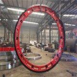 小型彈簧板結構2.4米鑄鋼材質迴轉窯大齒圈