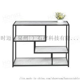 小北歐簡約鐵藝多層置物玄關桌可定制