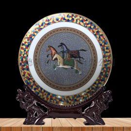 景德镇陶瓷 创意定制摆盘 退休纪念盘