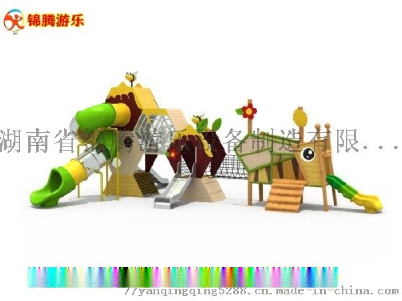 湖南益阳户外儿童无动力游乐设备儿童爬网组合定制厂家